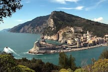 Porto Venere - This ancient village is found at the end of the promontory which closes the Gulf of La Spezia, opposite Palmaria island. On the edge of the promontory, where the temple of Venus used to stands, is the church of San Pietro.
