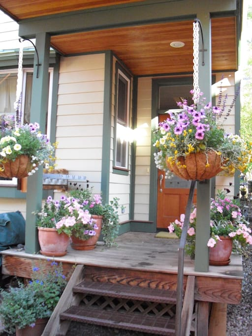 Front porch in summer
