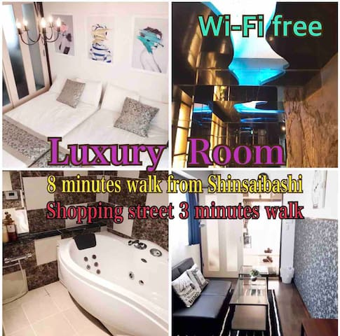 【A】心斎橋Luxury Room503 Shinsaibashi Shoppinng 3min