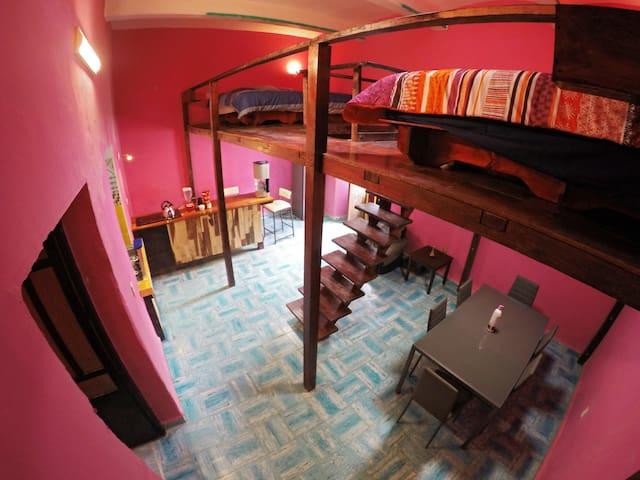 La Esmeralda - double loft with a pool