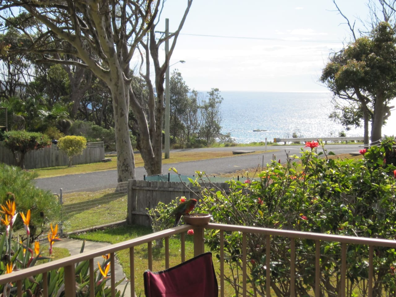 View from front deck and walk to the beach