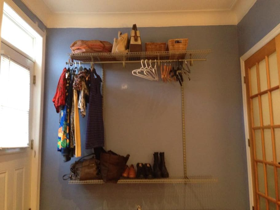 Space to hang your clothes and jackets.