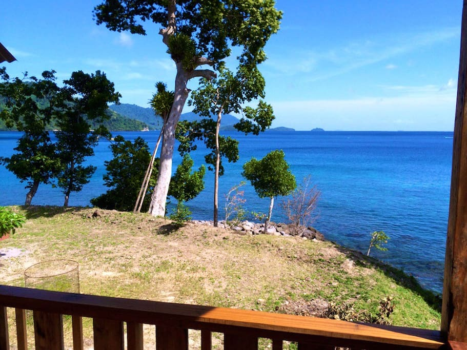 From the balcony, overlooking Sabang Bay, Pulau Weh.