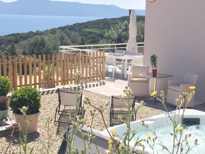 MarInCelu : Casa Serena****avec Spa en bord de mer