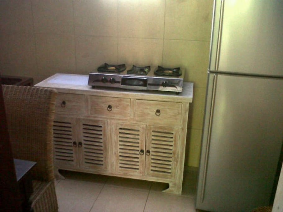 Fully self contained kitchen with refrigerator -shared facility with other room