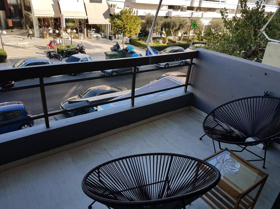 Apartment Glyfada balcony and view