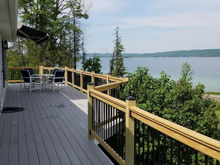 Front Deck of Cottage-view and Sunsetter Awning