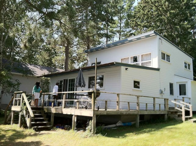 North woods family lake cabin