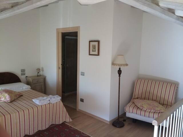 Camera grande mansardata