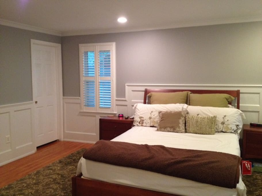 Master BR with attached Master bath and Sleep Number Queen size bed