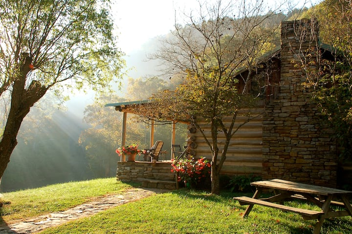 Cabin on the River at the Bare Farm