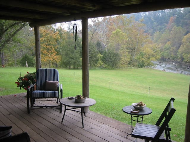 View of the Maury River from the porch