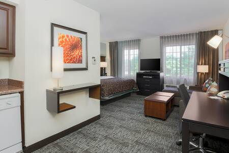 Comfy Studio Only a Short Drive from City Center Philadelphia | 24 Hour Business Center + Fitness Center