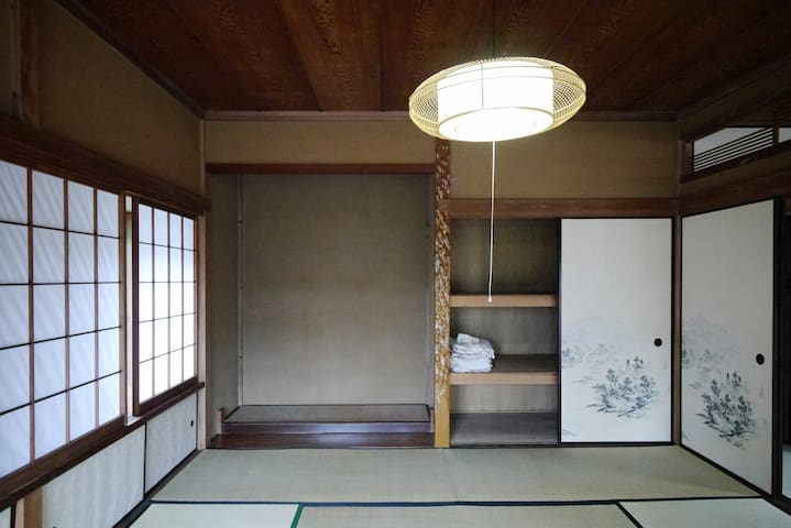 You can sleep this room with futon.