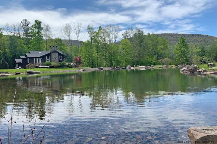 Stunning Lake House nr Phoenicia, Mntn Views, Swim