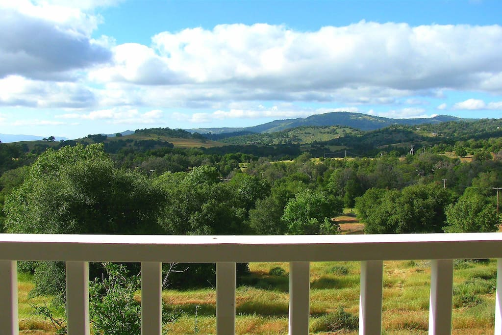 Spectacular front porch view
