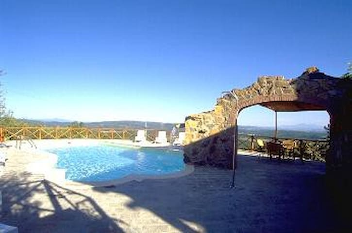 Villa Belvedere with pool and great views