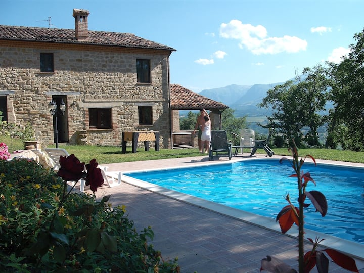 Villa La Pieve, piscina,parco,portico,sala fitness