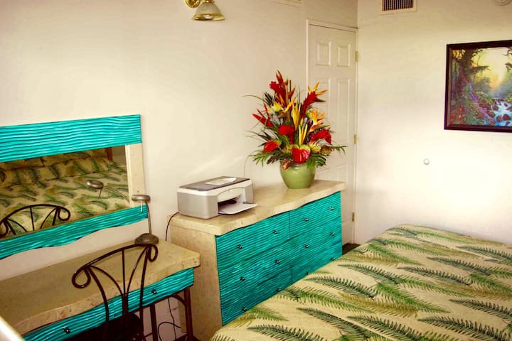 Custome remodeled furniture , imaged the ocean room with a king size 5 stars bed
