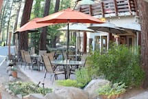 Fumo Wood Fired Eatery right out your front door among many more restaurants and salons within walking distance.