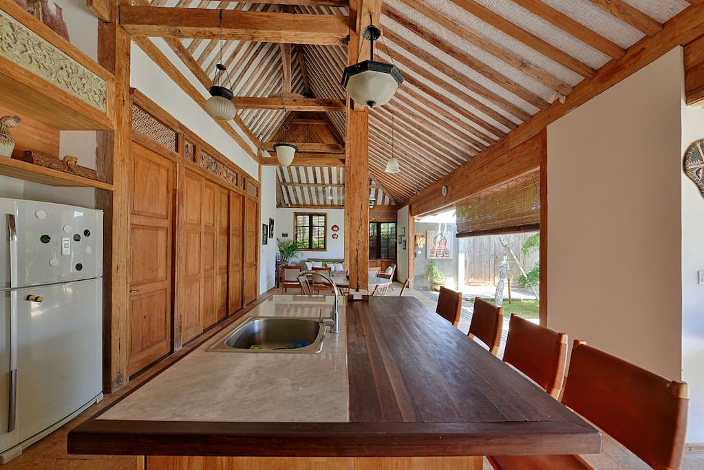 This 250 year old teak house has been modified to include all modern amenities.