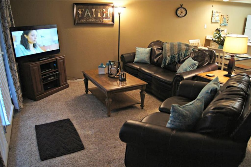 Living Area With HDTV