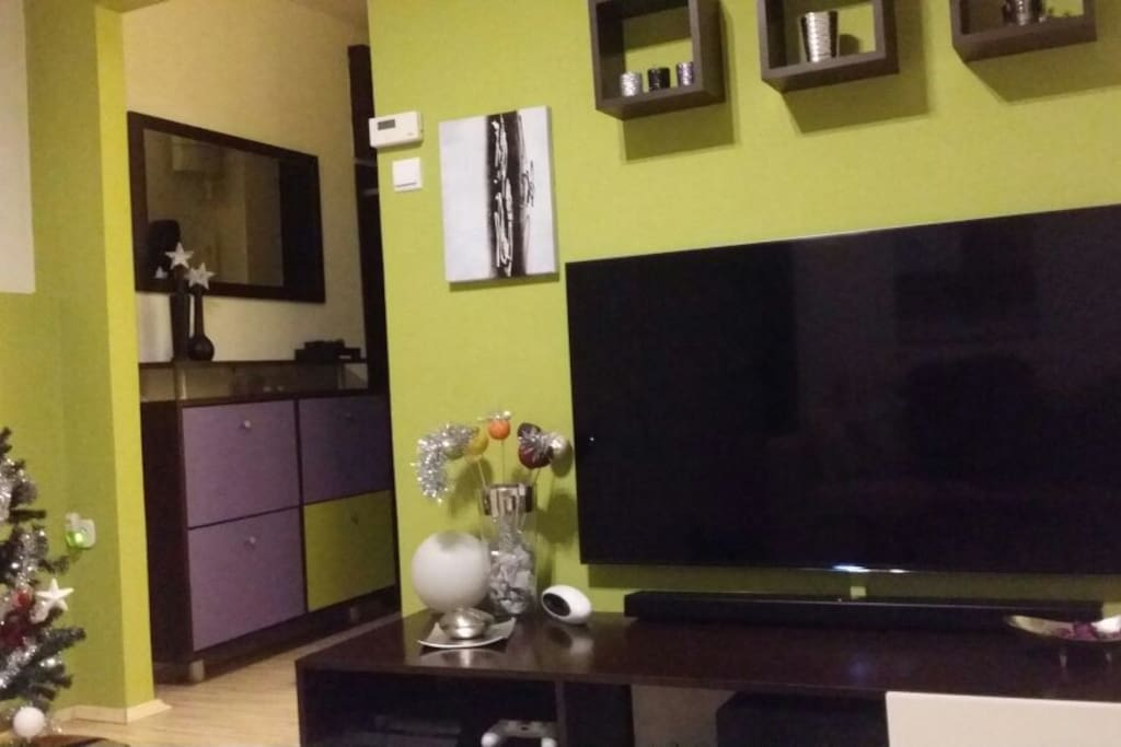 Main room with 55 Ultra TV, surrounding system, Playstation 4, Netflix, Optical WiFi 100/100...