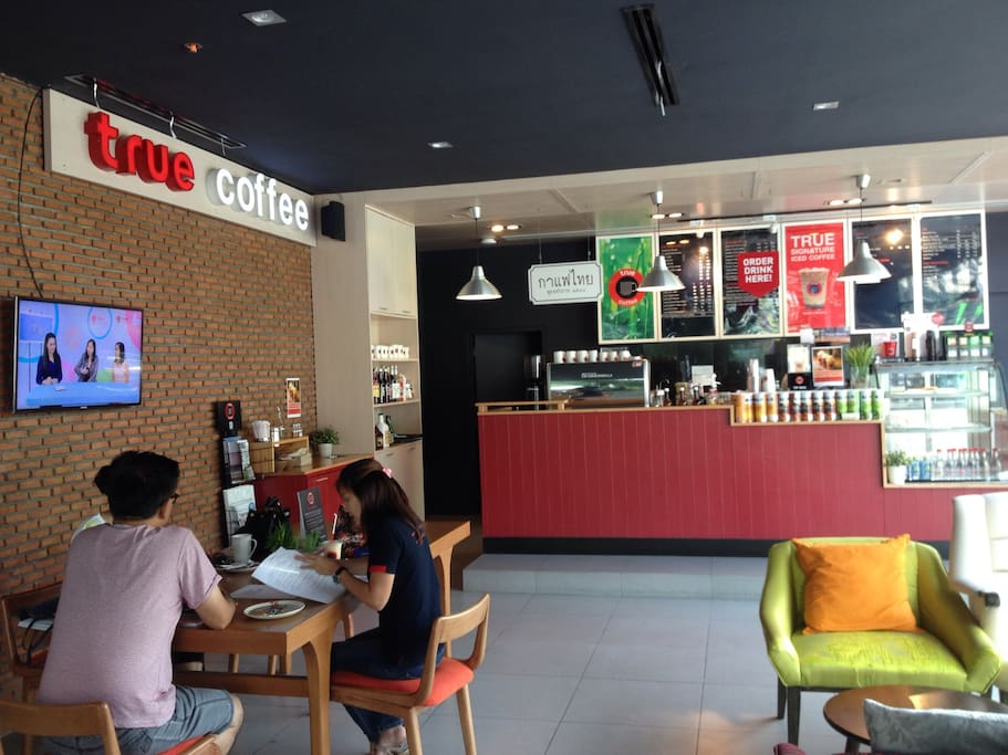 True coffee shop at the building, ground floor