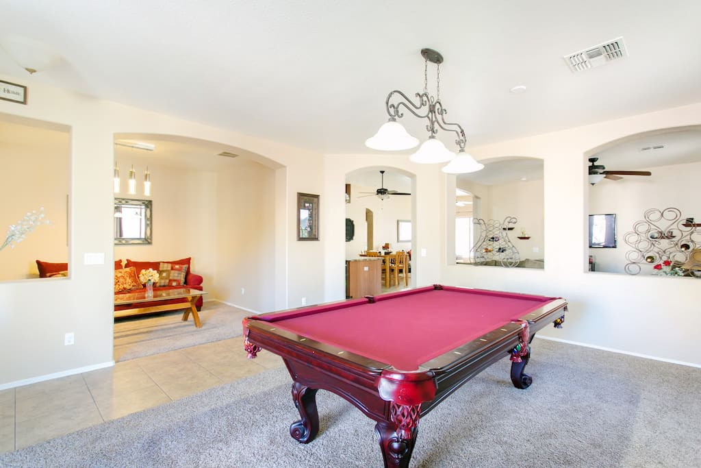 Full size pool table.