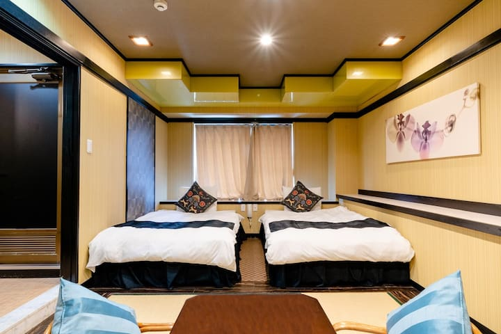 Nara's low-priced twin room (Japanese style room)