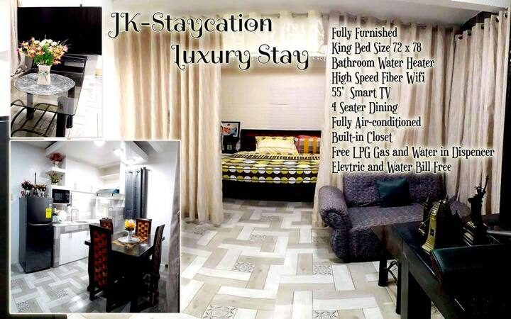 Jk-Staycation Luxurious Stay with Jacuzzi,king bed