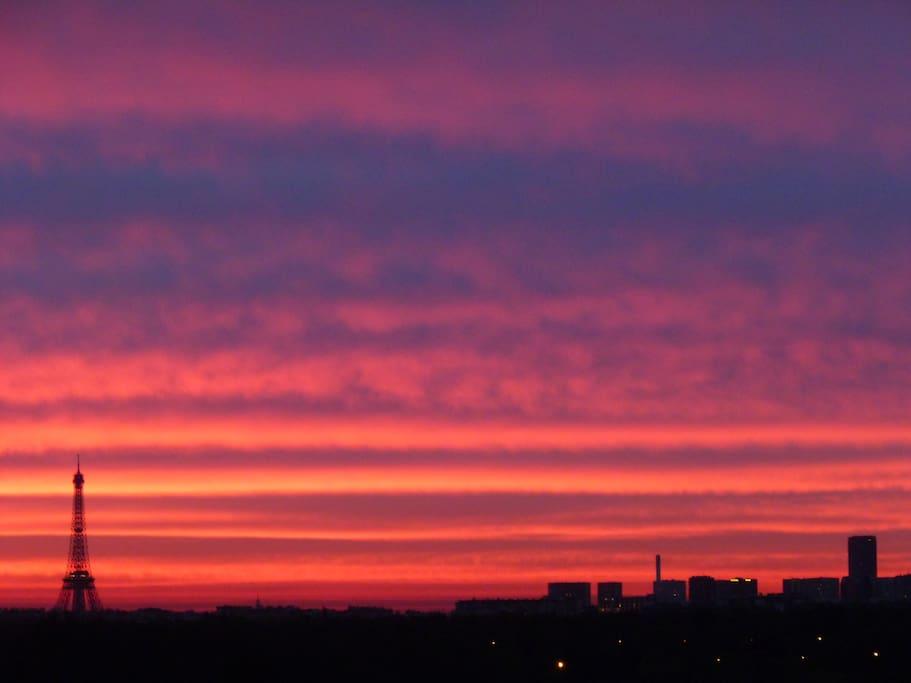Outstanding view over Paris