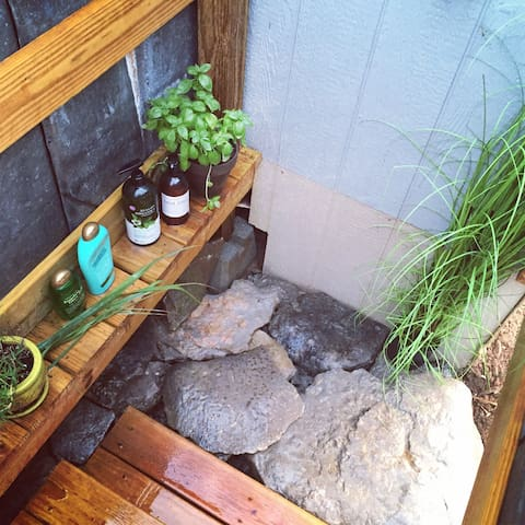 outdoor herb shower