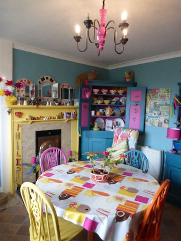 Mexico comes to Fife in my colourful dining kitchen where a continental breakfast is served
