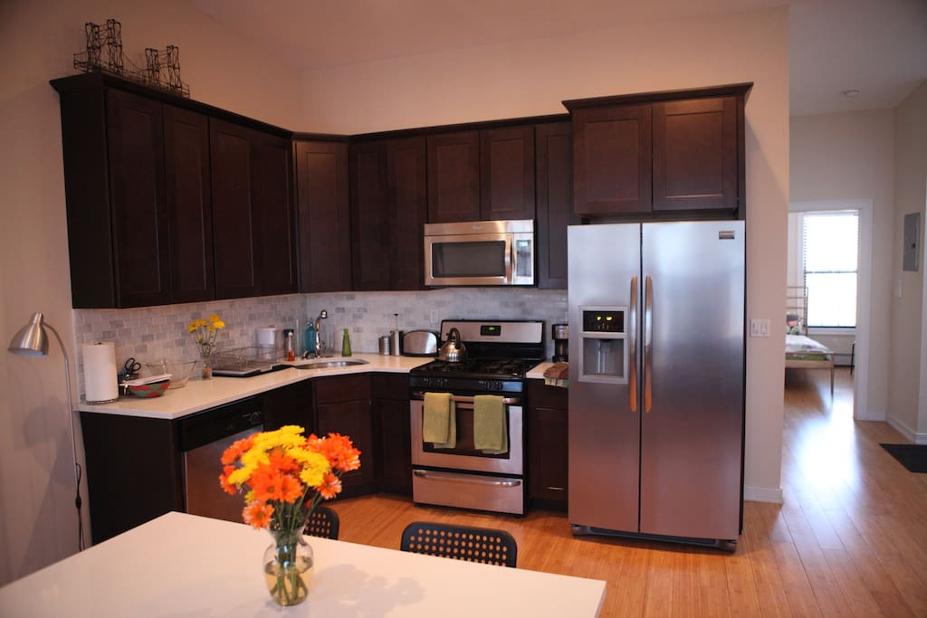 Kitchen is newly renovated and fully equipped.