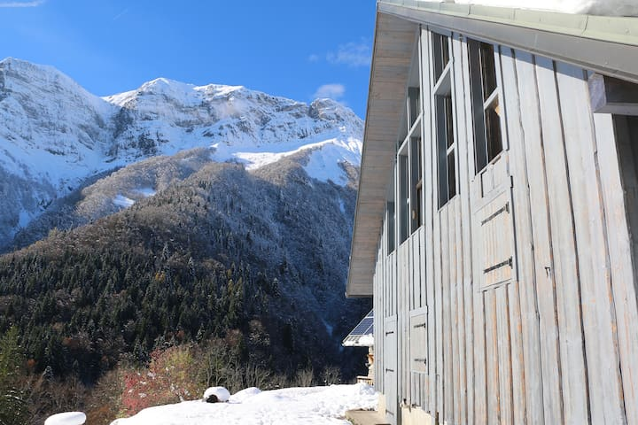 Isolated off-the-grid eco chalet in the Alps - Saint-Ferréol