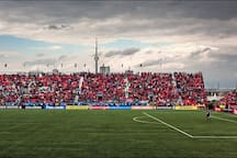 BMO Field. 20 minutes walk or 10 minute streetcar to games!
