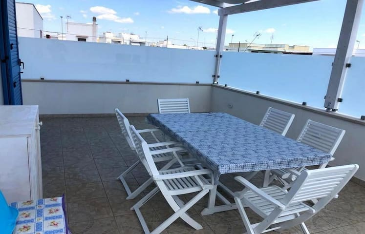 Holiday Apartment Torre San Giovanni 27 with Air Conditioning & Terrace; Street Parking Available