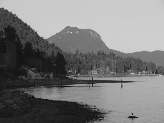 Looking north from Gibsons Landing