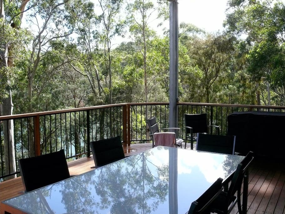 Upstairs deck, views of the lake