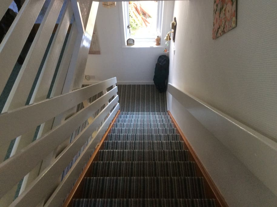 Stairs leading up to Appartment