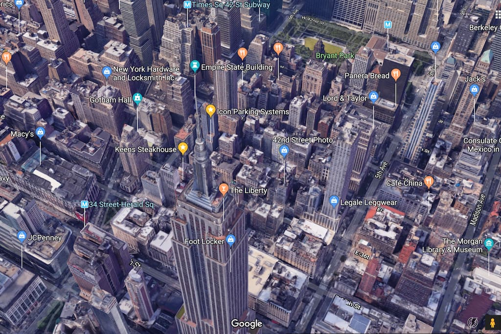 Our awesome neighborhood Lots of attractions just walking distance: -Empire State building (3 mins) -Times Square -Bryant Park -Madison Square -Herald Square -Central Park (15+ mins)