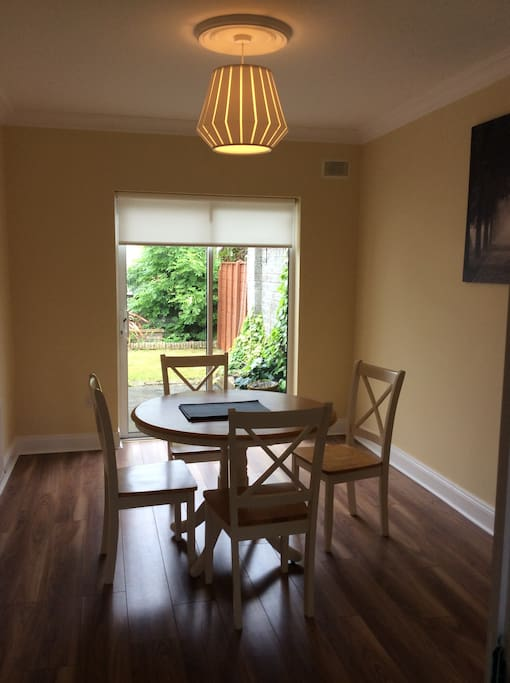 Dining room with garden access