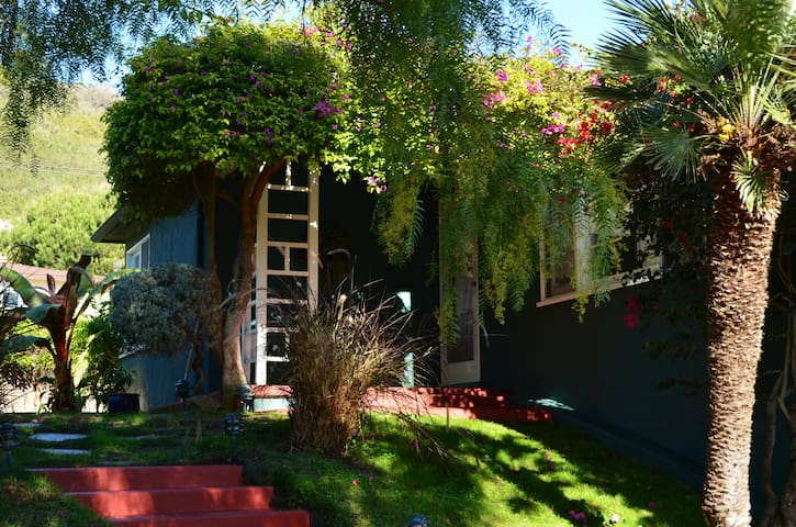 The front steps and porch. Welcome to Santa Barbara!