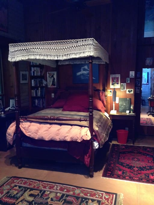 Double canopy bed.