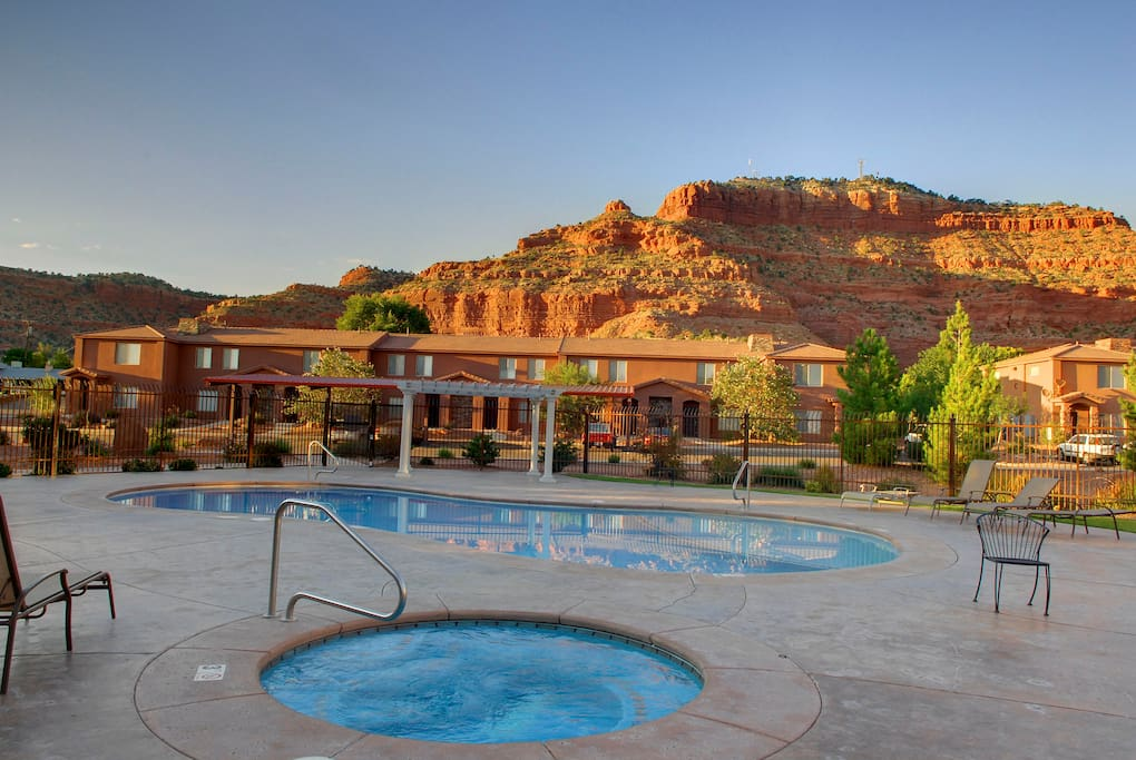 Relax in the Hot Tub or Pool & Enjoy the View after Exploring the Area!