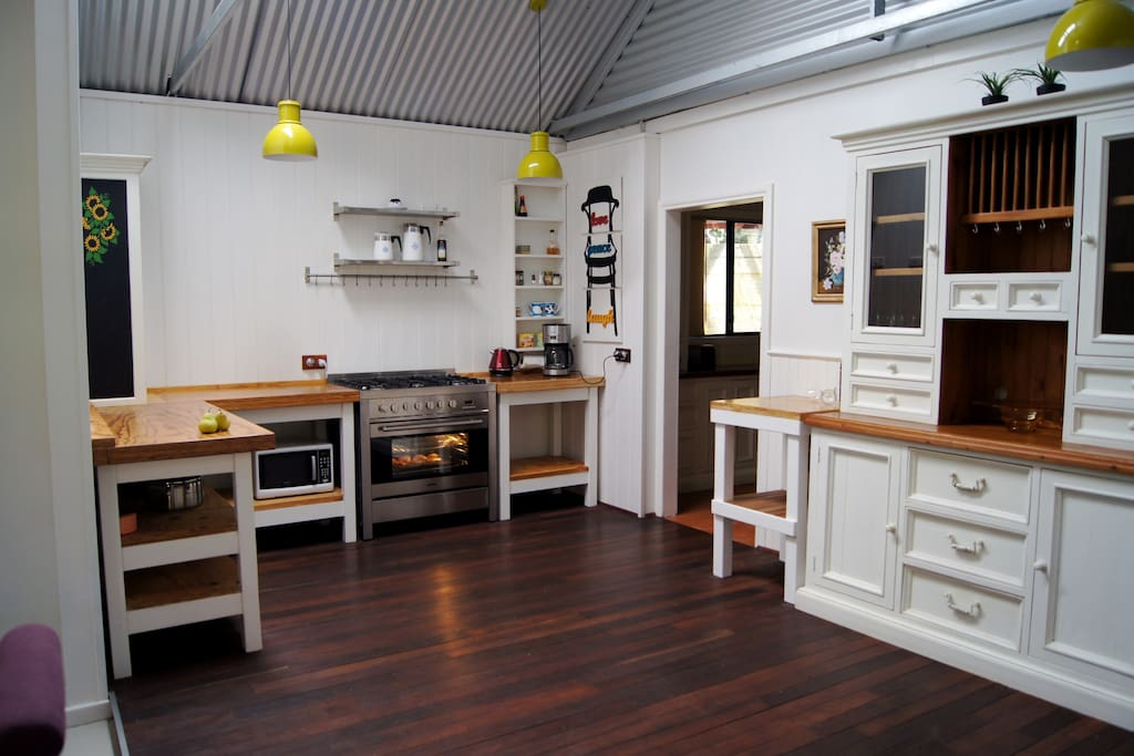 Main House - Modern rustic kitchen and scullery