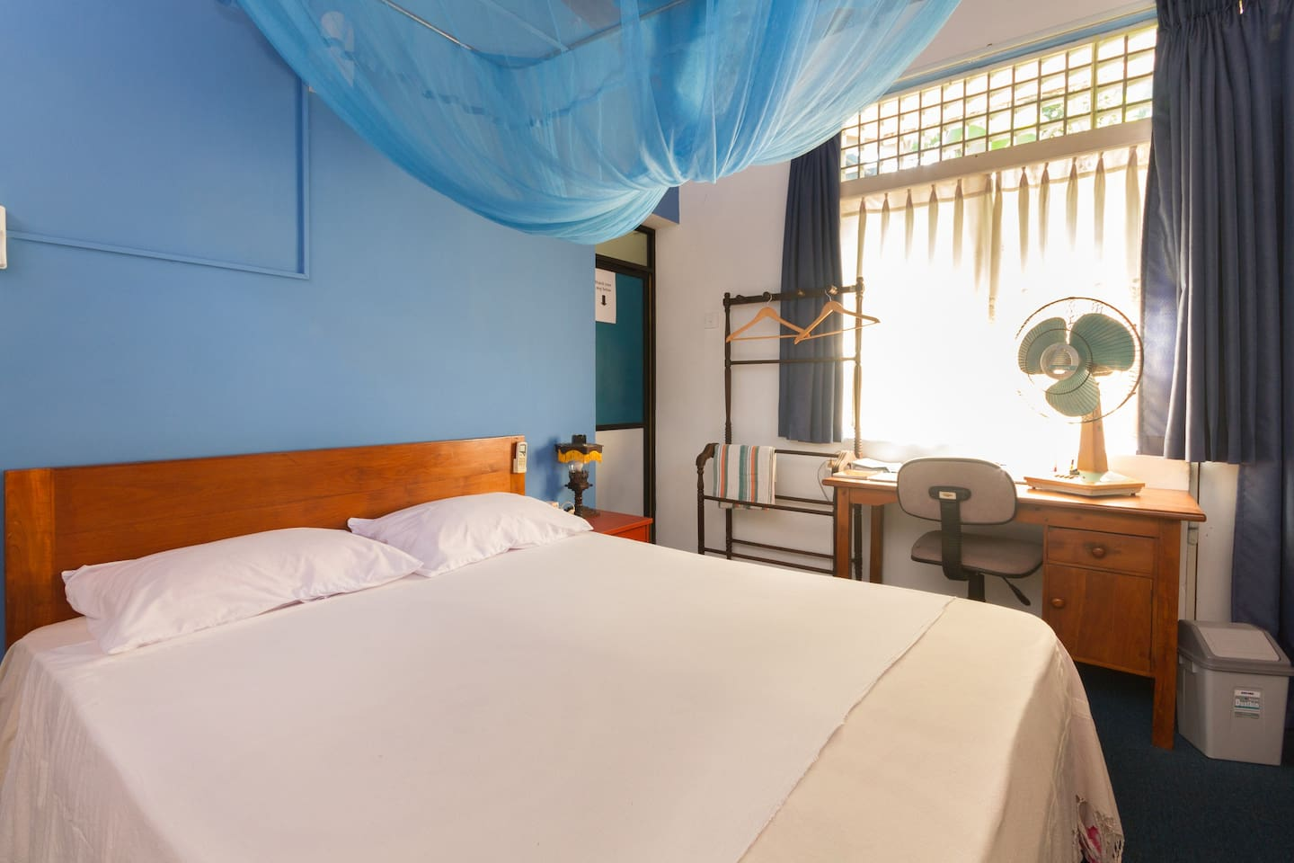 Sleep quality Guaranteed Comfortable Double bed with A/C optional at additional 4 usd