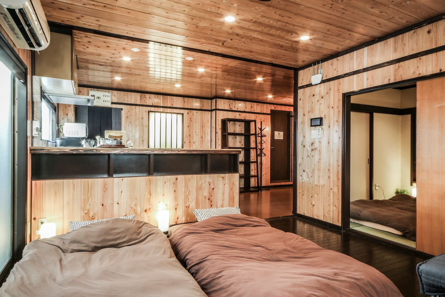 Surrounded by Natural Cedar Wood-Panel