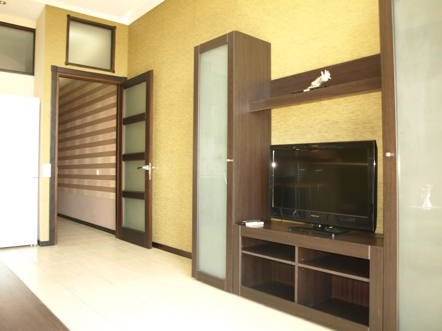 TV wall in the living area